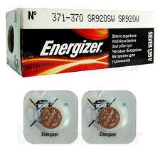 2 x Energizer Silver Oxide 371/370 batteries 1.55V SR69 SR920W Watch EXP:2020