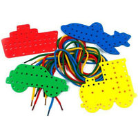 Transport Lacing Shapes 4 shapes with 4 Threading Laces-Creation Station CW7531