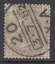 GB SURFACE PRINTED:1880 4d grey-brown plate 17  B-F SG160 used