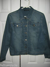 Womens LEE RIVETED Stretch Denim Jeans Jacket Medium