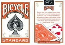 BICYCLE ORANGE BACK DECK PLAYING CARDS STANDARD SIZE & FACE USPCC