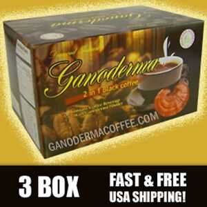 Ganoderma 2 in 1 Black Coffee - 3 Box(60 ct) - Free Shipping