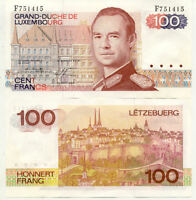 BILLET BANQUE LUXEMBOURG LUXEMBURG 100 FRANCS 1980 NEUF UNC
