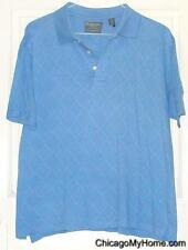 Lyle & Scott Scotland 100% Mercerized Cotton Blue Short Sleeve Polo Shirt Medium