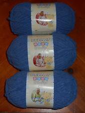 Bernat Baby Blanket Yarn Lot Of 3 Skeins (Baby Denim #03115) 3.5 oz. Skeins