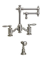 """Waterstone 6100-12-1-ORB Towson Bridge Faucet - 12"""" Articulated Spout"""