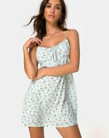 MOTEL ROCKS Kumala Dress in Pretty Petal Green M Medium   (mr46)