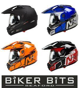 NITRO MX670 Adventure Motorcycle ACU Scratch Proof Helmet Removable Peak & Visor