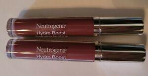 2x Neutrogena Hydro Boost Hydrating Lip Shine  (soft mulberry 100)