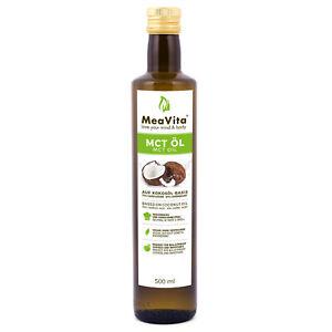 MeaVita MCT Öl auf Kokosölbasis (1x 500 ml) C8 & C10 Fettsäuren