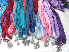 US SELLER-$3.85/each,30 jewelry pendant scarf necklace wholesale women gift bulk