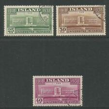 Iceland 1938 University of Iceland-Attractive Architecture Topical (209-11) used