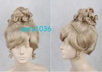 Princess Cinderella Fashion Short Golden Lacey Poppyhead Cosplay Wig   @13