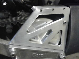 CNC ALUMINIUM ENGINE PULLEY CASING BRUSHED FINISH  BUELL S1 LIGHTNING