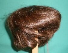 "doll wig/ human hair 15"" d. brown short Glorex/Echthaarper. dunkelbr. kurz 38"