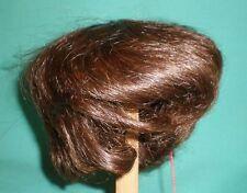 """Poupée Perruque/Cheveux Humain 15"""" D. Brown Short GLOREX/echthaarper. DUNKELBR. Kurz 38"""
