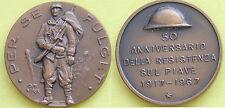 MEDAGLIA GETTONE ITALIA 50° ANNIVERSARIO DELLA RESISTENZA SUL PIAVE 1917-->1967