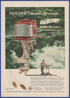 Vintage 1955 MERCURY Mark 30 Turbo 4 Outboard Motor Boating 50's Print Ad