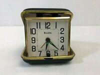 Vintage Bulova Folding Travel Alarm Clark, UNTESTED, Made in Japan, Used