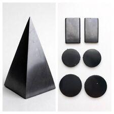 Shungite Pyramid High 80mm + Schungit Plate (6 pcs) Protection Against EMF