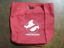 Rare Vintage Real Ghostbusters Red Cloth w/Velcro Lunch Bag