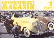 Motorhistoriskt Magasin Swedish Car Magazine 1 1982 MHS 040317nonDBE
