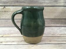 "Vintage 1995 Rowe Pottery Works Hunter Green 6.25"" Pitcher"