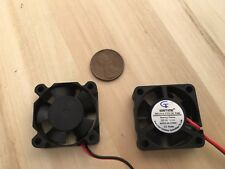 2 Pieces 5v 30mmx30x10 Brushless Cooling Fan small micro Flow CFM Gdstime C19