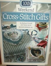 1ST ED Weekend CROSS STITCH gifts over 100 DESIGNS Ideas for EASY craft projects