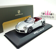 Porsche 911 992 Turbo S Cabriolet 2020 silber metallic 1:43 Minichamps Dealer