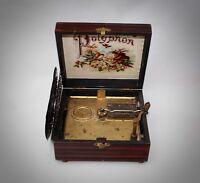 Antikes Polyphon Symphonion mit 5 Platten funktioniert gut
