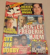 "Whitney Houston Bobby Brown Break-up Vintage Danish Magazine 1994 ""Se og Hoer"""