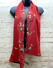 Zazou Luxe Black Reversible Rayon Silk Scarf GUC