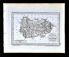 1841 Perrot France Map Departement Meurthe Nancy Luneville Chateau Salins Toul