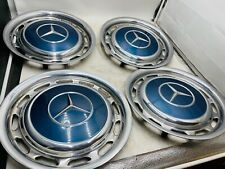 4x Mercedes Benz 14 Zoll Satz Radkappen W123 W109 W111 W113 387 Metallic Blau 1