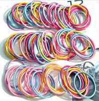 100pcs/lot Kids Girl Elastic Rope Hair Ties Variety Ponytail Holder Hairband