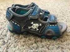 fbef68110d6fbf Trendy Stylish Toddler Boy s Geox Black   Blue Sandals Pirate Skull ...