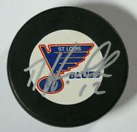 St. Louis Blues Dale Hawerchuk Signed Autographed Puck Auto NHL Beckett COA