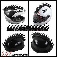 Dirt Bike Atv Helmet Mohawks Helmets 14'' Long Uneven Style Rubber Mohawk Black