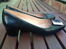 Naturalizer Francis Black Leather Heels, Size 38
