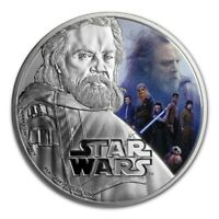 Niue -2017- 1 OZ Silver Proof Coin-  Star Wars The Last Jedi - Luke Skywalker
