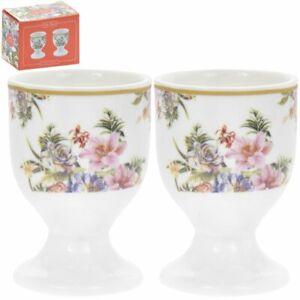 LEONARDO SET OF 2 LILY ROSE EGG CUPS