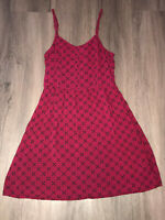 Divided Womens Size 4 Maroon Pattern Thin Strap Dress
