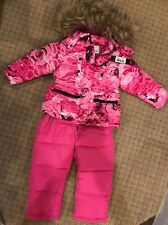 Diesel Toddler Girls 2 Pc Ski Set Pink Snow Suit Sz 4T