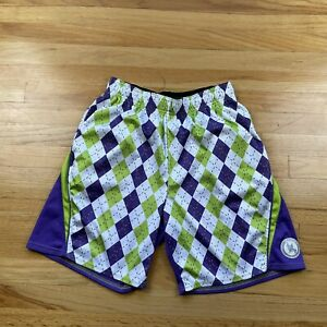 Flow Society Authentic Lacrosse Purple And Green Shorts Size Youth XL
