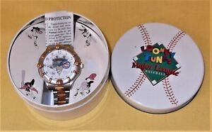 VTG 1994 WALTHAM LOONEY TUNES BUGS BUNNY CHICAGO CUBS WRIST WATCH COLLECTOR TIN
