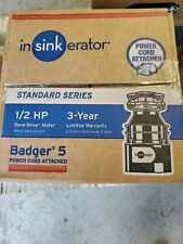 Badger 5 Garbage Disposal 1/2 HP INSINKERATOR BADGER 5 WITH CORD-NEW