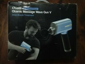 Osaki Otamic Series 5-Speed Massage Gun with 4 Replaceable Heads in Blue