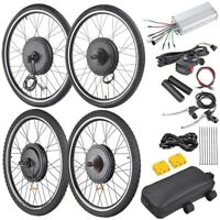 "48V 1000W 26"" Front Rear Wheel Electric Bicycle Motor E-Bike Conversion Kit"
