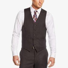 $220 Michael Kors Men Gray Fit Button Wool Vested Suit Vest Waistcoat Size 42 R